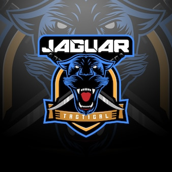 Equipe tática do logotipo da jaguar