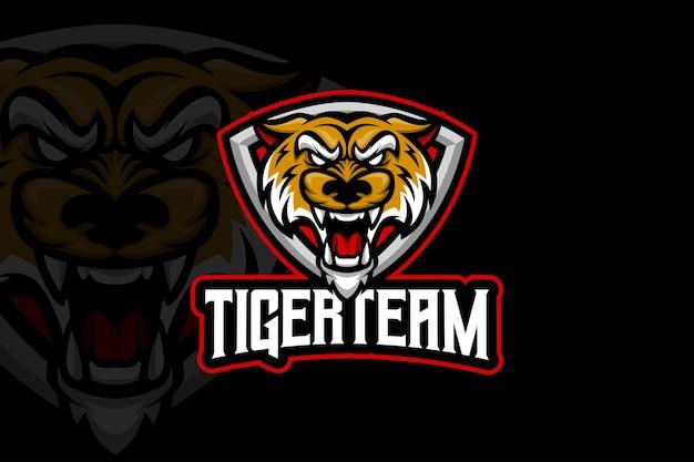 Equipe tiger - modelo de logotipo esport