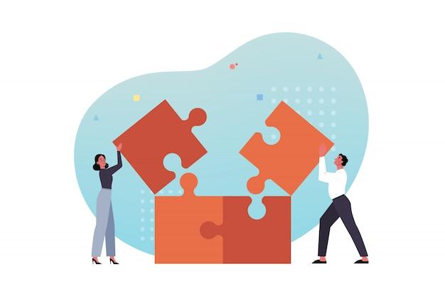 Equipe, trabalho em equipe, parceria, cooperação, conceito do negócio.