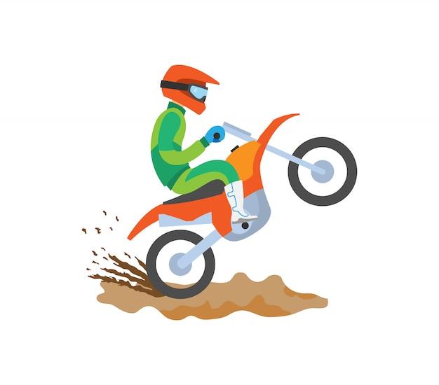 Equitação de moto esporte radical
