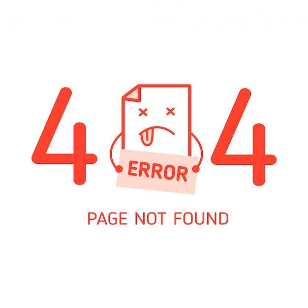 Erro 404 com modelo de design de erro de caractere para o site