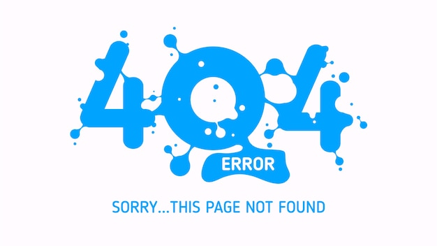 Erro 404 líquido