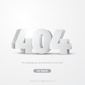 Erro 404 modelo web em estilo isométrico