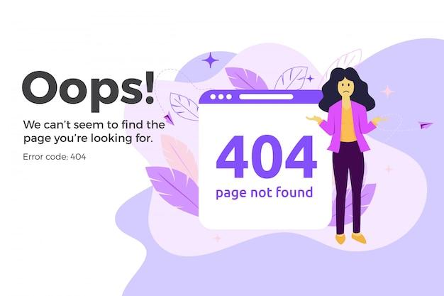 Erro 404 na página da web indisponível. arquivo não encontrado conceito