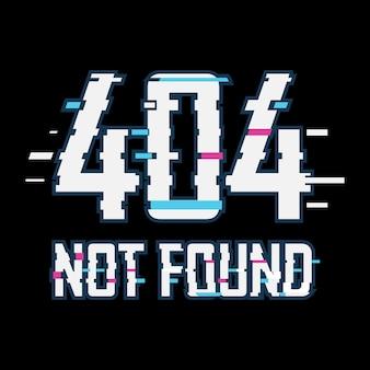 Erro 404 não encontrado efeito de falha