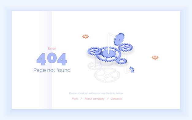 Erro 404 página de modelo de página da web não encontrada