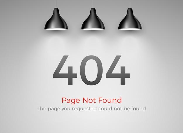 Erro 404 - página não encontrada. falha na web do site 404. opa, problema no design de alerta da internet.