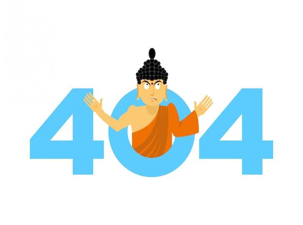 Erro 404, página não encontrada para o site com o buddha