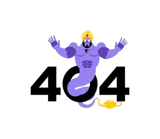 Erro 404, página não encontrada para o site com o genie