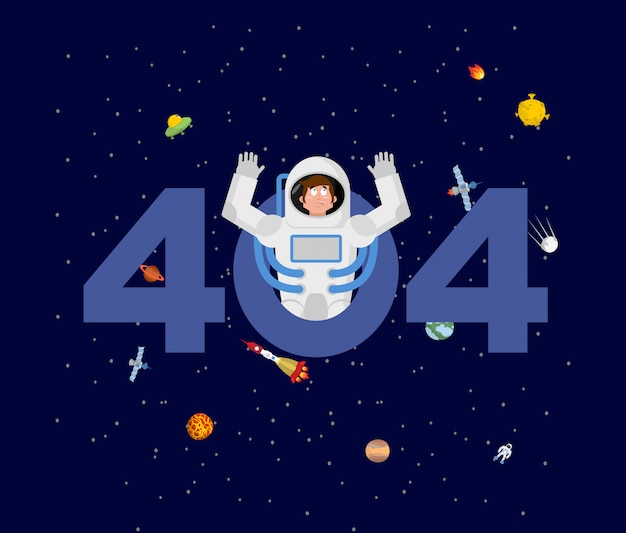 Erro 404. surpresa do astronauta.