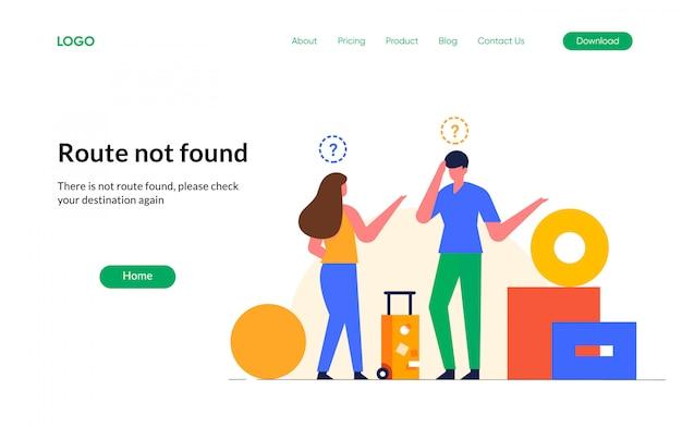 Erro de conexão de sinal de internet 404 estados vazios não encontrados perdidos ilustração de personagem de design de viagem