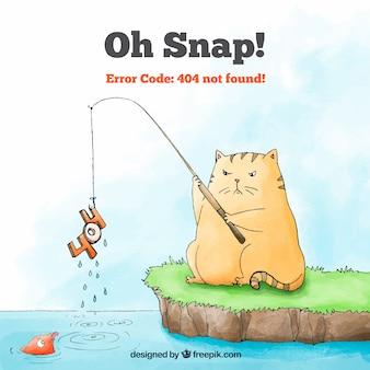 Erro desenhado manualmente 404