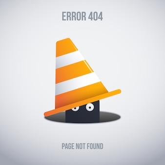 Erro engraçado 404 design de fundo