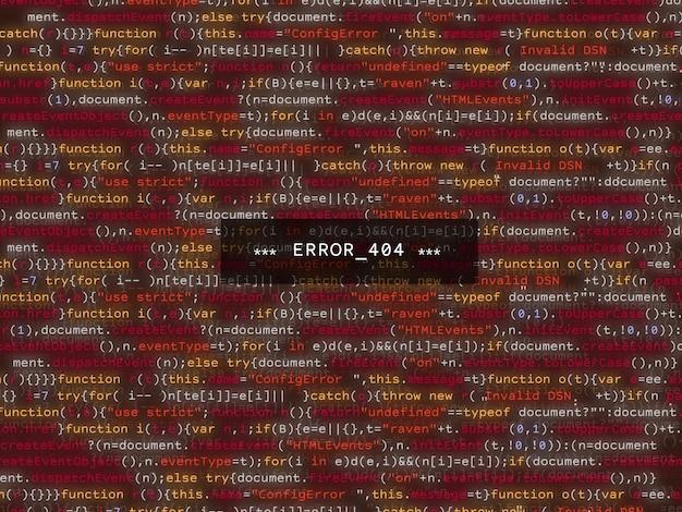 Erro na listagem de código do programa, falha vermelha