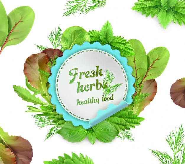 Ervas frescas, ilustração