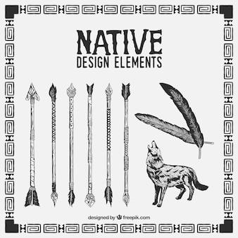 Esboçado elementos de design nativas