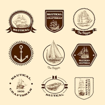 Esboçar emblemas náuticos
