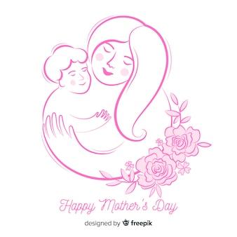 Esboçar o fundo do dia da mãe