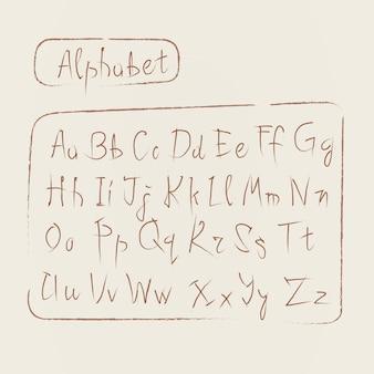 Esboço alfabeto conjunto de fontes de texto de coleção de letras