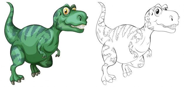 Esboço animal para o dinossauro