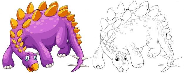 Esboço animal para stegosaurus
