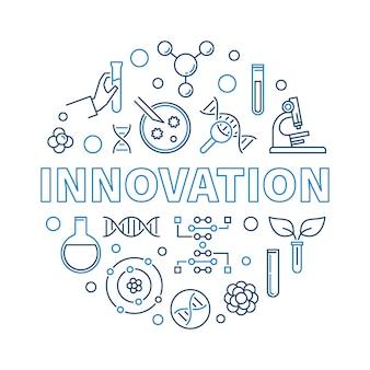 Esboço criativo de inovação genética rodada