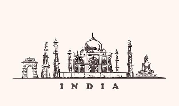 Esboço das atrações da índia