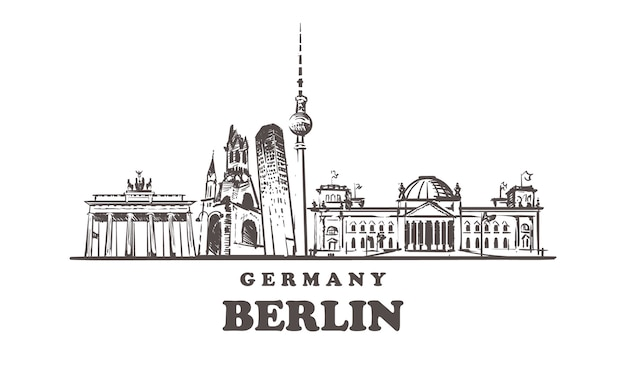Esboço das atrações de berlim, alemanha
