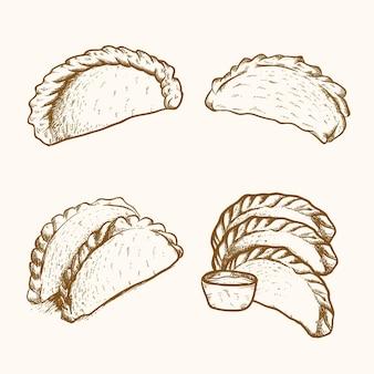 Esboço de coleção empanada