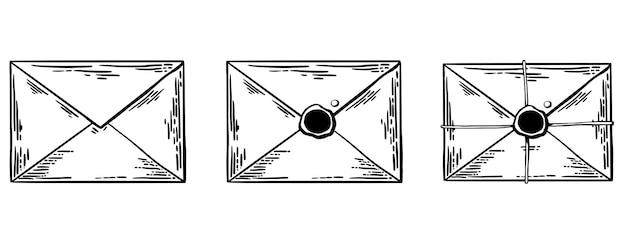 Esboço de desenho gravado monocromático