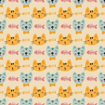 Esboço de esboço de peixe-gato com ícones e cor de elemento de design
