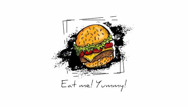 Esboço de fast-food