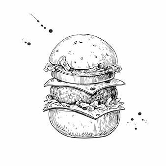 Esboço de hambúrguer