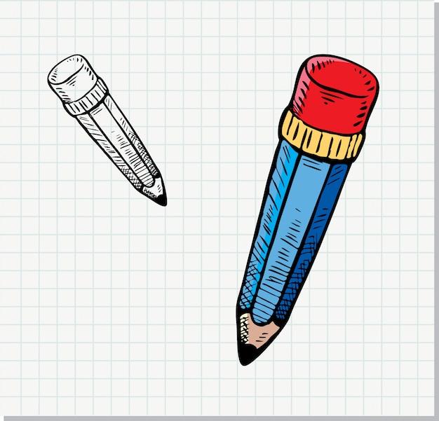 Esboço de lápis no estilo doodle