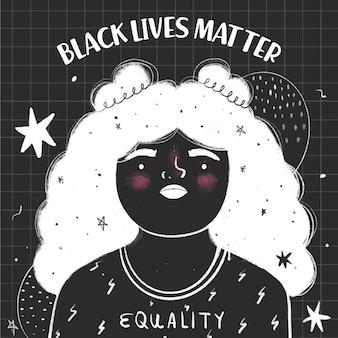 Esboço de matéria de vidas negras