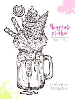 Esboço de sweet freak e milkshakes