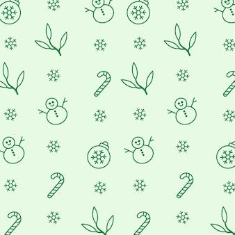 Esboço desenhado à mão desenho padrão de natal