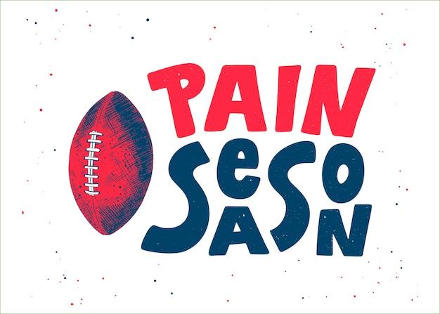 Esboço desenhado de mão da bola de futebol americano