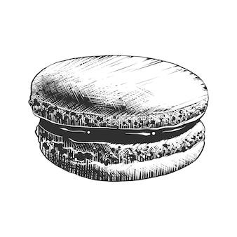 Esboço desenhado de mão de macaroon