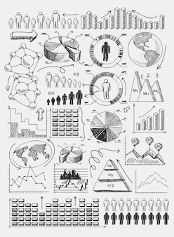 Esboço diagramas infográficos