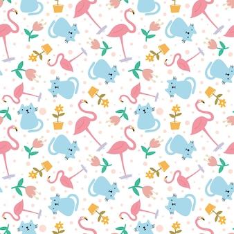 Esboço do esboço de animais com ícones e cores de elementos de design