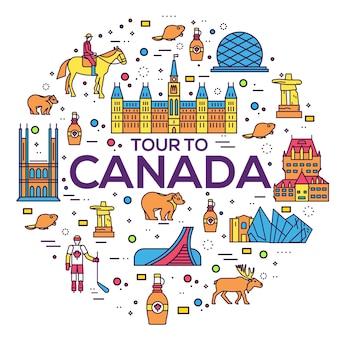 Esboço do país, guia de viagens de mercadorias no canadá