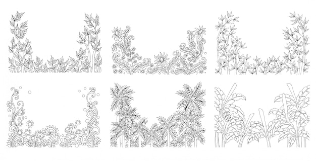 Esboço floral tropical de verão