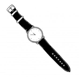 Esboço realista de um relógio