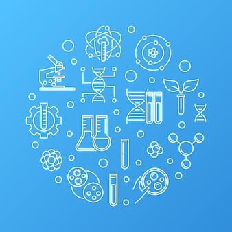 Esboço redondo de biotecnologia ou bio-engenharia