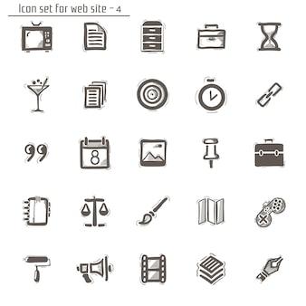 Esboços de ícones. isolado no branco