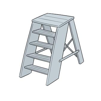 Escada dos desenhos animados