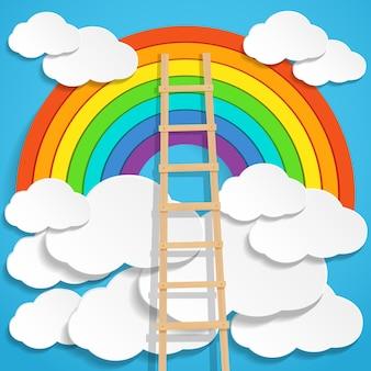 Escada no arco-íris