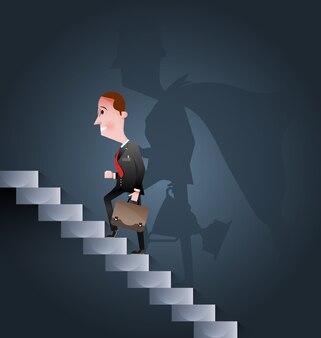 Escada para o sucesso-conceito de negócio