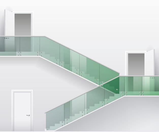 Escadas e portas